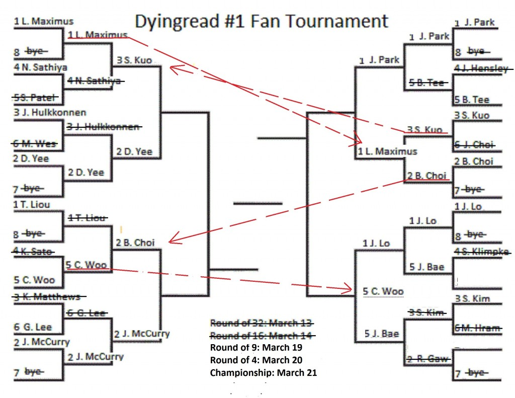 Dyingread #1 Fan Tournament:  A Reseed for an elite… 9
